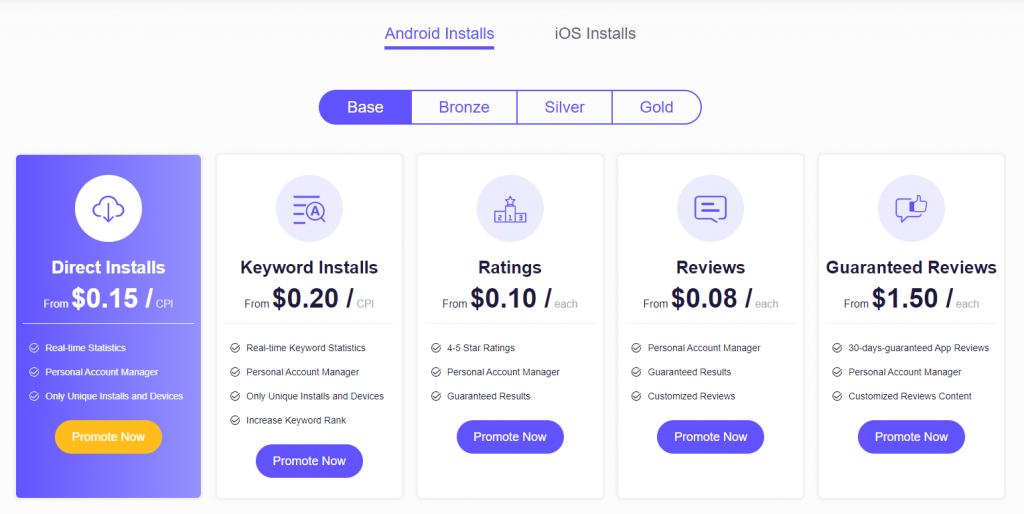 App Promotion Price